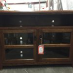 Newly restocked entertainment centers